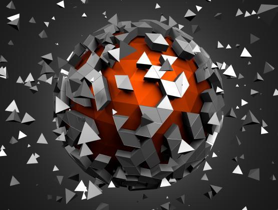 278862800 – תמונת כדור תלת מימד עתידני