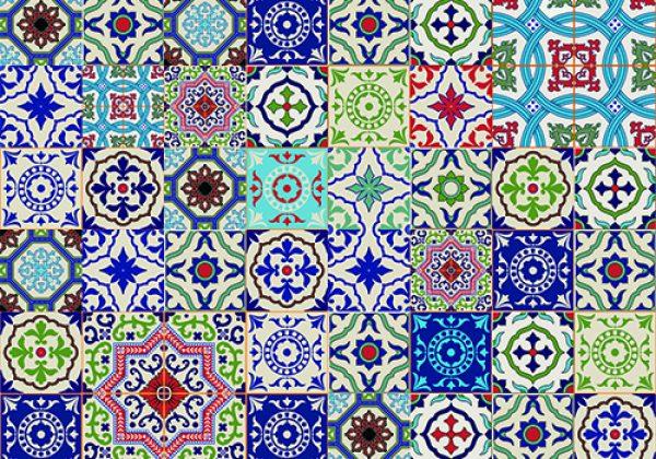 332090240 תמונת טפט אריחים מרוקאים צבעוניים