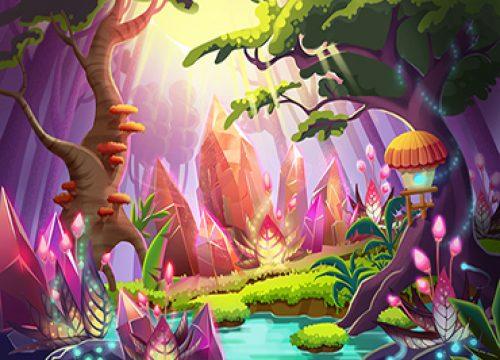 357679688 – תמונה לחדרי ילדים היער הקסום