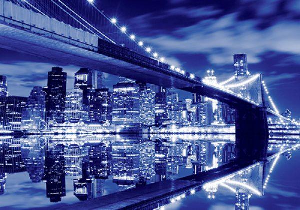 87240172 – תמונת גשר ברוקלין על רקע מנהטן